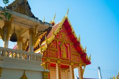 буддийский висок Таиланд Udon Thani Стоковые Изображения RF