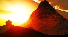 буддийский висок Тибет Стоковое фото RF