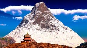 буддийский висок Тибет Стоковые Фото