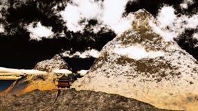 буддийский висок Тибет Стоковое Фото