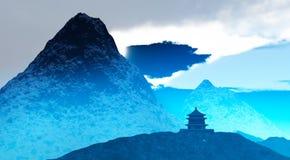 буддийский висок Тибет Стоковая Фотография RF
