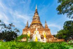 Буддийский висок Ayutthaya Стоковое Изображение
