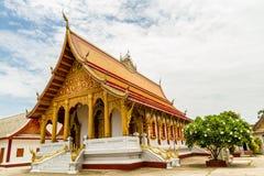 буддийский висок prabang luang Лаоса Стоковое фото RF
