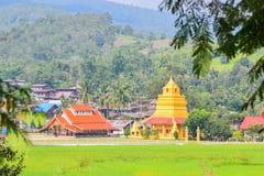 Буддийский висок Wat Sri Pho Chai спел висок Pha в провинции Loei, Таиланде Стоковая Фотография