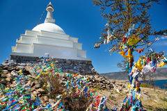 Буддийский миномет на острове Ogoy Стоковые Изображения
