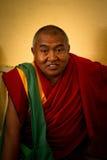 Буддийский монах, висок Далай-ламы, McLeod Ganj, Индия Стоковая Фотография RF