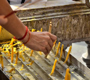Буддийская рука Стоковые Изображения
