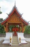 Буддийский ритуальный барабанчик в виске Стоковое Фото