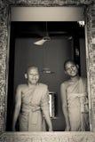2 буддийских монаха Wat Damnak, Siem Reap, Камбоджи Стоковая Фотография