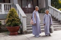 2 буддийских монашки Стоковая Фотография RF