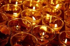 буддийское горение миражирует висок Стоковое Изображение RF