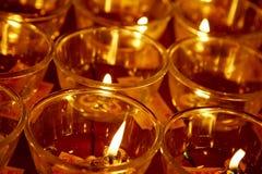 буддийское горение миражирует висок Стоковое Фото
