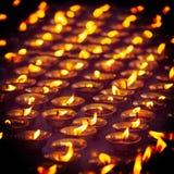 буддийское горение миражирует висок McLeod Ganj, Himachal Prades стоковое изображение