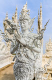 Буддийское искусство на Wat Rong Khun стоковое изображение rf