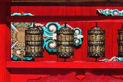 Буддийское колесо молитве - hurde стоковая фотография rf