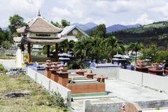 буддийское кладбище могилы семьи день Стоковое Изображение RF