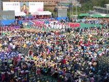 Буддийское ралли приветственного восклицания, Сеул, Корея Стоковые Фото