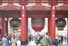 буддийское токио виска sensoji японии hozomon строба Стоковые Изображения RF