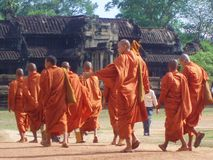 Буддийское Ankor Wat Камбоджа Стоковое фото RF