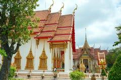 буддийское wat Таиланда виска chalong стоковое изображение