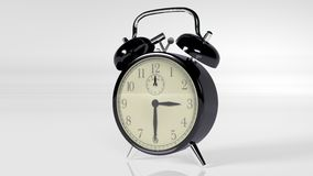 Будильник, аппаратура времени на белизне Стоковые Фото
