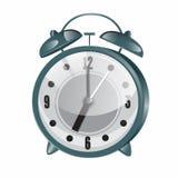 будильник ретро Металлические винтажные часы Стоковое Изображение