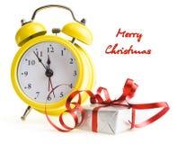 Будильник с подарками на рождество Стоковые Изображения RF
