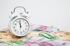 Будильник для кредиток евро Стоковое Изображение