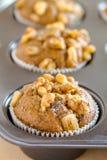 Булочки грецкого ореха банана и семени Chia Стоковое Изображение RF