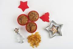 Булочки рождества с оформлением Стоковое Изображение RF