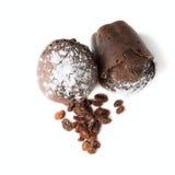 Булочки шоколада с изюминками Стоковое Изображение
