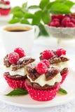Булочки шоколада с полениками Стоковое Изображение