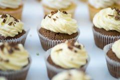 Булочки шоколада с сливк Стоковое Изображение