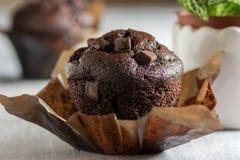 Булочки шоколада с частями замороженности и шоколада Стоковое фото RF