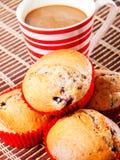 Булочки ягоды с кофе Стоковое фото RF