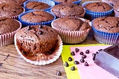 Miffins Chocolat с падениями chocolat Стоковое Изображение RF