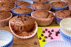 Miffins Chocolat с падениями chocolat Стоковая Фотография RF