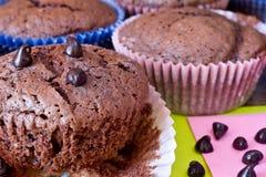 Miffins Chocolat с падениями chocolat Стоковые Изображения RF