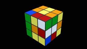 Будучи разрешанным куб Rubik сток-видео