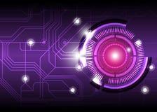 Будущая цифровая конструкция кнопки Стоковая Фотография RF