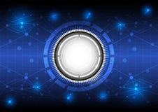 Будущая цифровая технология принципиальной схемы Стоковая Фотография