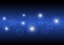 Будущая цифровая технология принципиальной схемы Стоковое Изображение RF