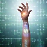 Будущее бионических оплат стоковые изображения rf