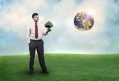 будущее более зеленое Стоковые Фото