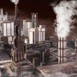 будущее города промышленное Стоковое фото RF