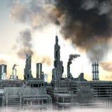 будущее города промышленное Стоковые Фото