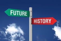 Будущее за иллюстрацией дорожного знака 3d Стоковые Фотографии RF