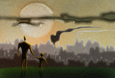 Будущее земли в ваших руках Стоковые Фото