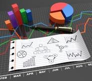 будущее диаграмм дела здания финансовохозяйственное Стоковое фото RF