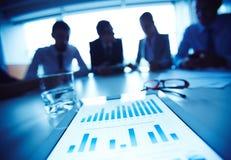будущее диаграмм дела здания финансовохозяйственное Стоковое Фото